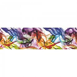 AG Art Samolepiaca bordúra Farebný dym, 500 x 14 cm