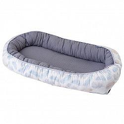 Babymatex Hniezdočko Prestige modrá pierka, 55 x 80 cm