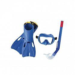 Bestway Šnorchlovací set Lil Flapper- plutvy, okuliare, šnorchel, modrá