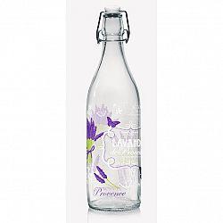 Cerve Sklenená fľaša s Clip uzáverom Lavande, 1 l