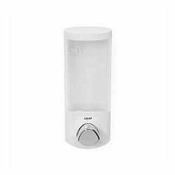 Dávkovač Compactor UNO mýdla / šampónu na zeď, bílý plast, 360 ml RAN6013