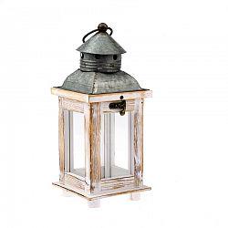 Drevený lampáš Nicole, 11 x 27,5 x 11 cm