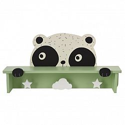 Drevený vešiak s poličkou Hatu, panda
