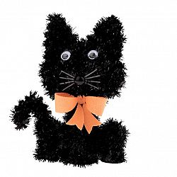 Halloweenská mačka Blackie, 15 x 11 cm