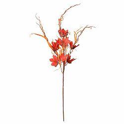 Jesenná dekorácia javorová vetvička s trávou, v. 70 cm