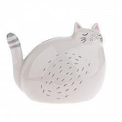 Keramická dekoračná pokladnička Mačka, 17,7 x 13,7 cm