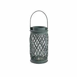 Kovový lampáš Glenecho 15 x 30 cm, sivá