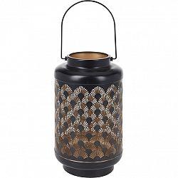 Kovový LED lampáš s časovačom Cora, 15,5 x 28 cm, 18 LED, teplá biela