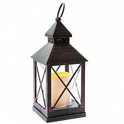Lampáš s LED sviečkou na batérie Nancy 10 x 23,5 cm, čierna