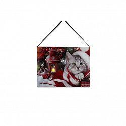 LED obraz na plátne Kitten, 20 x 15 cm