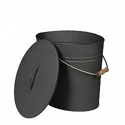 Lienbacher Oválna nádoba na popol s vekom, 24 l, antracit