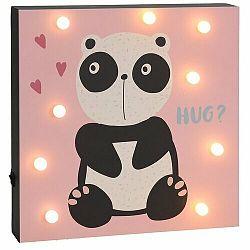 Nástenná LED dekorácia Hatu Panda, 26 x 4 x 26 cm