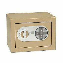 Oceľový sejf s elektronickým zámkom, hnedá RS.17.EDN.H