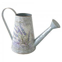 Plechová kanvička Lavender, 16 x 22 cm