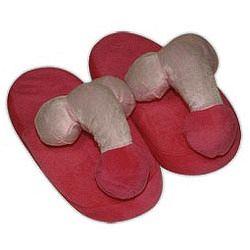 Plyšové papuče s penisom