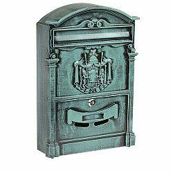 Poštová oceľová schránka s hliníkovým čelom BK.301.ZEP, zelená