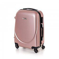 Pretty UP Kufor na kolieskach ABS16 ružová, 37 x 49 x 23 cm